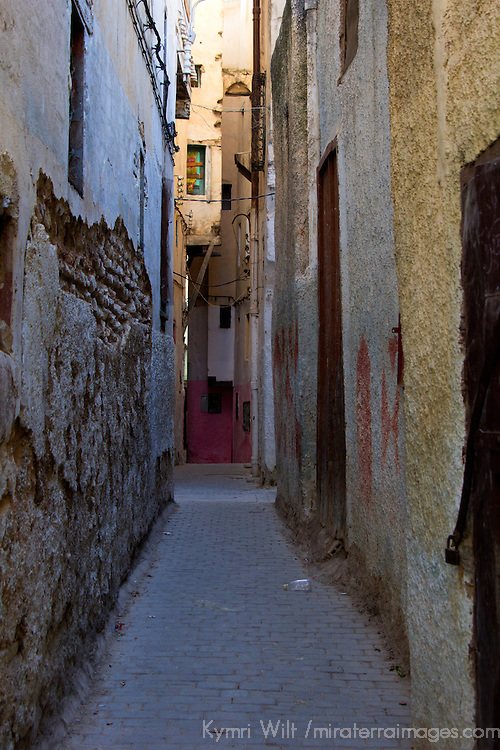 North Africa, Morocco, Fes. Fes old medina street.