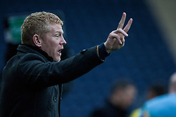 Falkirk's manager Gary Holt.<br /> Falkirk 1 v 0 Queen of the South, Scottish Championship game today at the Falkirk Stadium.<br /> &copy; Michael Schofield.