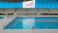 LONDON, ENGLAND - Wednesday 7 May 2014, a general view of the London Aquatic Centre and the pool where Chad Le Clos won his first gold medal inside the Queen Elizabeth Olympic Park in Stratford, London, host city of the London 2012 Olympic Games<br /> Photo by Roger Sedres/ImageSA