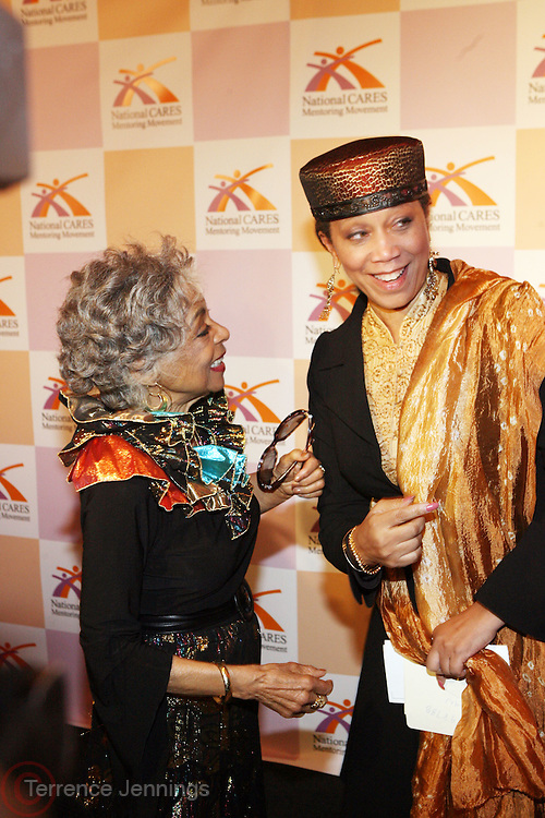 l to r: Ruby Dee and Atallah Shabazz at The National CARES Mentoring Movement Gala held at ESPACE on December 2, 2008 in NYC..National CARES is a mentor-recruitment movement that works ti fill the pipeline of youth-supporting organizations throughout the country with mentors. Its mission is to save a generation by outting a caring adult in the life of every at-risk child and those who have already fallen in peril.
