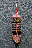 Rabelo boat - in ancient times the wine was brought from Upper Douro to Oporto by these boats