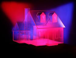 glass house transparent transparency spotlit spotlights cliche