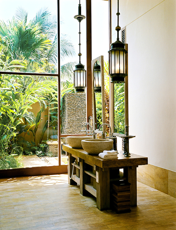 Beach villa bathroom.