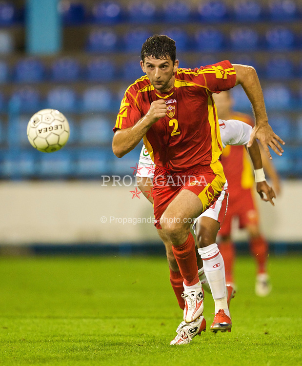 PODGORICA, MONTENEGRO - Wednesday, August 12, 2009: Montenegro's Miodrag Dzudovic in action against Wales during an international friendly match at the Gradski Stadion. (Photo by David Rawcliffe/Propaganda)