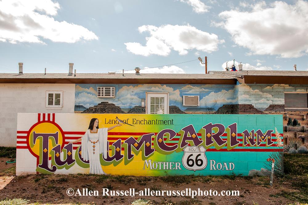 Historic route 66 in tucumcari new mexico mural allen for Route 66 mural