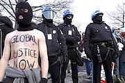 Protester at George W. Bush inauguration, Washington D.C. 2004