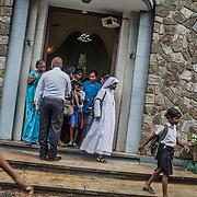 Catholic church of Saint Philip Neris, in Katukurunda, south of Colombo, during Sunday mass