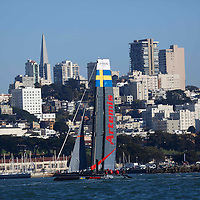 Artemis Racing – Red practice session at the America's Cup World Series in San Francisco. Mandatory Credit: Dinno Kovic