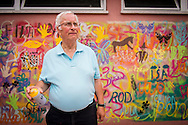 08/09/2015 - Lisbon, Portugal: António Rodrigues, 72, after Lata 65 workshop. Lata 65 was project created by Lara Seixo Rodrigues and is a creative workshop teaching street art to senior citizens. (Eduardo Leal)