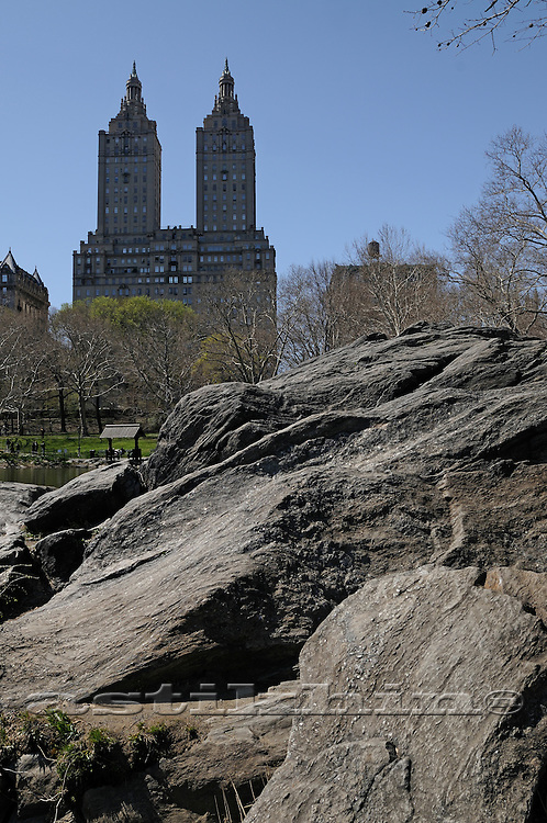 The San Remo Towers from Central Park NYC.