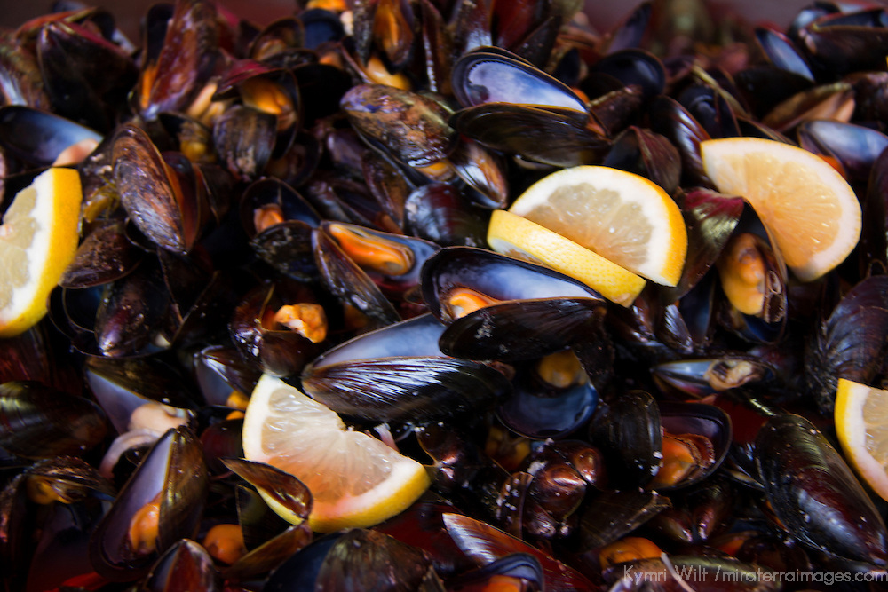 Europe, Norway, Bergen. Mussels of Bergen.