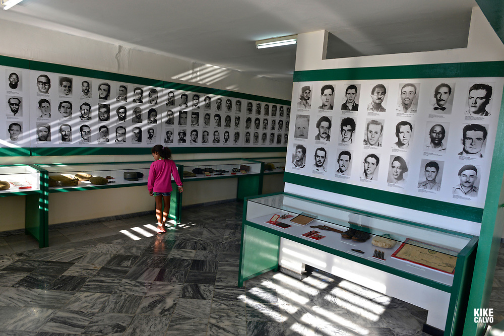 Cuban girl explores the Bay of Pigs Museum
