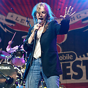 """COLUMBIA, MD, -September 10th, 2011 - Rock legend Patti Smith received a warm welcome at the 2011 Virgin Mobile FreeFest at Merriweather Post Pavilion and responded with one of the best sets of the day, including rousing renditions of her hits """"Because The Night"""" and """"Gloria."""".  (Photo by Kyle Gustafson/FTWP)."""