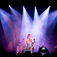 Wolf Alice singer, Ellie Rowsell, live on stage at the Junction in Cambridge on 10 April 2015. Last date of the tour.