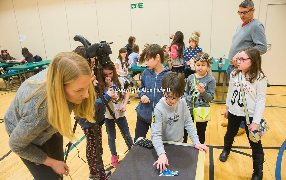Bo'Ness Hippodrome Festival of Silent Cinema 2017<br /> <br /> Schools workshop at Dearborn primary school<br /> <br /> picture by Alex Hewitt<br /> alex.hewitt@gmail.com<br /> 07789 871 540