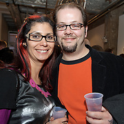 Washington, DC - March 26, 2013 - Patrons visit Long View gallery on the opening night of the DCist Exposed photography exhibition. (Photo by Kyle Gustafson)