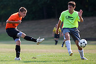 Pitman High School Soccer vs Salem High School in a summer league match at Alcyon Park in Pitman, NJ on June 28, 2012. (photo / Mat Boyle)