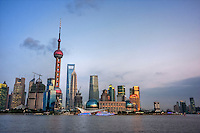 Early evening in Pudong seen from the Bund