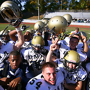 10/20/12 - Wilmington, DE - St. Elizabeth Football - Delaware Military Academy celebrates a Week 7 DIAA overtime win defeating St. Elizabeth 20 - 14 Saturday, Oct. 20, 2012, at Baynard Stadium in Wilmington DE.   ..SAQUAN STIMPSON/Special to The News Journal