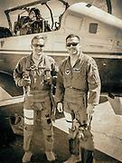 Photographed next to their Beechcraft T-6 Texan II turboprop trainer.  Dekalb Peachtree Airport (PDK), Atlanta.