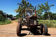 Tractor in Batabano, Mayabeque Province, Cuba.
