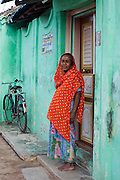 Muslim woman at Nagore. South India.