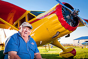 """Tom Dinndorf fully restored this Stinson Reliant SR 10 """"Gull Wing"""".  It was originally purchased by Shell Oil in 1938, and flown by Jimmy Doolittle for two years before WWII.  Airventure 2010, Oshkosh, Wisconsin."""
