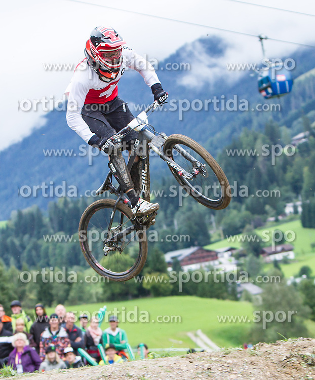 01.09.2012, Bikepark, Leogang, AUT, UCI, Mountainbike und Trial Weltmeisterschaften, MEN Elite, 4-Cross, im Bild Weltmeister Roger Rinderknecht (SUI) // Worldchampion Roger Rinderknecht (SUI) during UCI Mountainbike and Trial World Championships, MEN Elite, 4-Cross at the Bikepark, Leogang, Austria on .2012/09/01. EXPA Pictures © 2012, PhotoCredit: EXPA/ Juergen Feichter