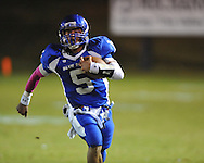 Water Valley's E.J. Bounds (5) vs. Mantachie in high school football action in Water Valley, Miss. on Friday, October 26, 2012.