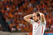 AMSTERDAM - Nederland - USA , Amsterdam ArenA , Voetbal , oefeninterland , 05-06-2015 , Nederlands elftal speler Daley Blind baalt van gemiste kans