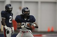 Ole Miss spring football practice in the IPF in Oxford, Miss. on Monday, April 4, 2011.