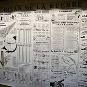 Exhibits at the the Somme Trench Museum in Albert (Musée Somme 1916)The museum is in the old crypts under the basilica of Albert and shows scenes of trench life from WWI, original uniforms, war paraphernalia  and other items rescued from the fields.