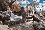 Statue of Jesus praying at the Shrine of St. Joseph in Yarnell, Arizona.