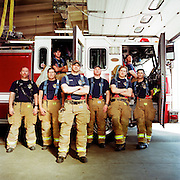ANCHORAGE, AK - MAY 2012: The crew of Fire Station 5 in Anchorage, Alaska.