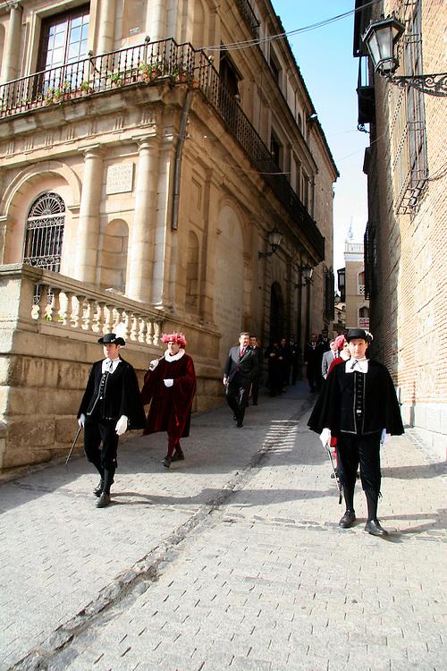 Europe, Spain, Toledo. Government officials of Toledo.