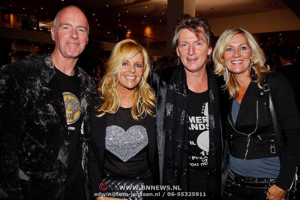 NLD/Utrecht/20100903 - Premiere Queen musical We Will Rock You, Erik de Zwart en partner Marika van den Brink, Ferdi Bolland en Marion Mulder