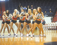 "Rebelettes dance at the C.M. ""Tad"" Smith Coliseum in Oxford, Miss. on Saturday, December 11, 2010."