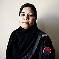 Lady police constable Afshan Hussain of the West Zone Police Station Karachi, Pakistan, 2011
