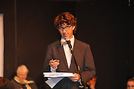"""Andy Douglas as Frank Church rehearses for """"Yes Virginia, There Is A Santa Claus"""" at the Powerhouse in Oxford, Miss. on Wednesday, December 12, 2012."""