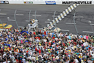 30 March - 1 April, 2012, Martinsville, Virginia USA.Ryan Newman (39) crosses the finish line.(c)2012, Scott LePage.LAT Photo USA
