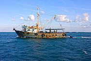 Fishing boat in Cayos Ana Maria, Ciego de Avila, Cuba.