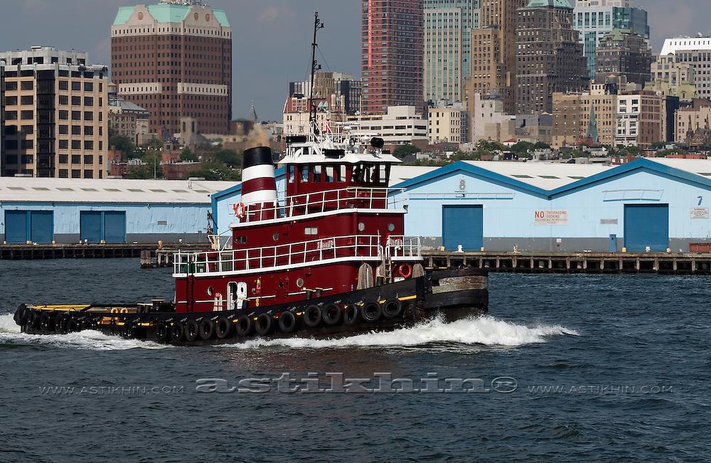 Tugboat on East River