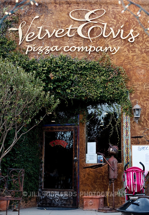 Velvet Elvis Pizza Company is one of few places to eat in small Patagonia, but they serve up a delicious pie. Located in Southern Arizona, Patagonia is known for its birding and wineries.