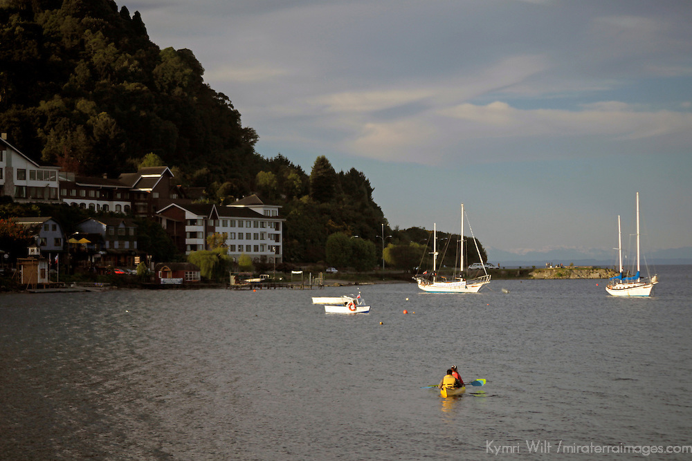 South America, Chile, Puerto Varas. Kayaking on Llanquihue Lake.