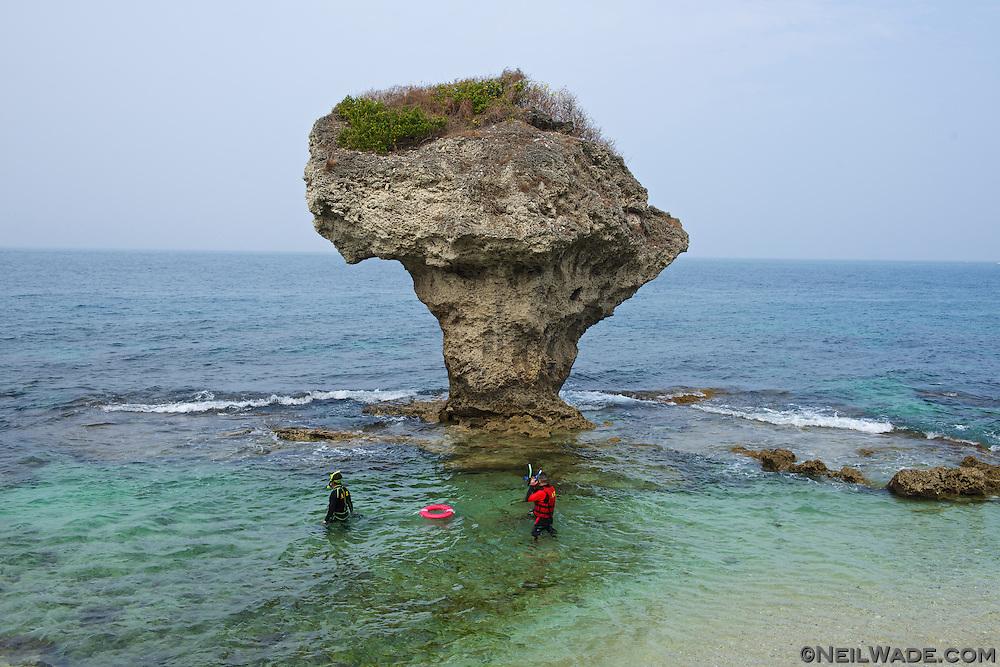 Liuqiu Taiwan  City new picture : Flower Vase Rock on Little Liuqiu Island, Taiwan.