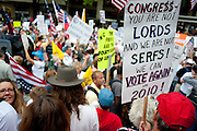 Activists with the conservative advocacy group The Tea Party Express marched to the U.S. Capitol Saturday to protest health care reform, higher taxes and what they see as out-of-control government spending.  The group began its tour in Sacramento, California, making its way across the country, hosting rallies in about 30 cities. Washington is the final destination.