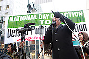 4 March 2010- New York, NY- Coucilman Charles Baron at The National Day of Action to Defend Public Education Protest and March held on March 4, 2010 on the corner of East 40th and and Third Ave in New York City.