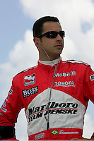 Helio Castroneves at the Texas Motor Speedway, Bombardier Learjet 500, June 11, 2005