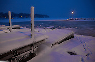 .Four inches of snow fell on Madison, Wisconsin Friday March 2, 2012.