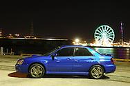 (C) Joel Strickland Photographics. 2004 MY05 Subaru Impreza WRX - World Rally Blue <br /> Shot on location in Port Melbourne, Victoria<br /> 24th March 2006